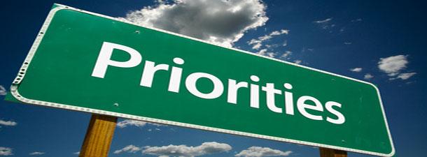 Par prioritātēm
